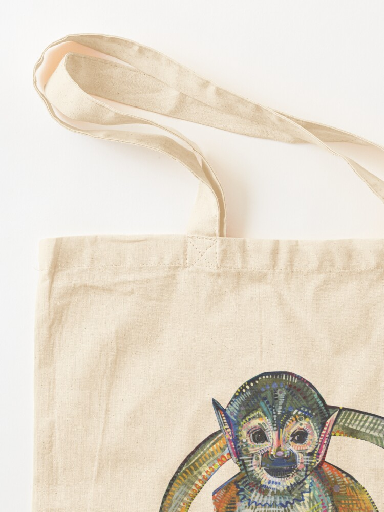 Alternate view of Squirrel monkey painting - 2015 Tote Bag