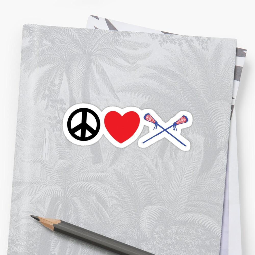 Peace Love Lacrosse by SportsT-Shirts
