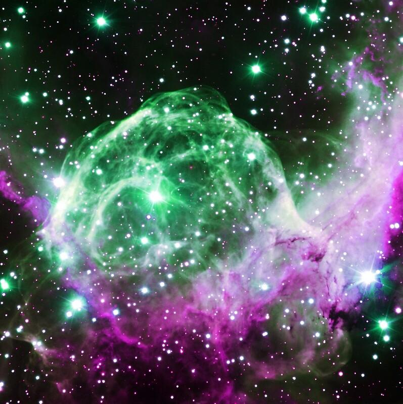 green blue purple pink galaxies - photo #11