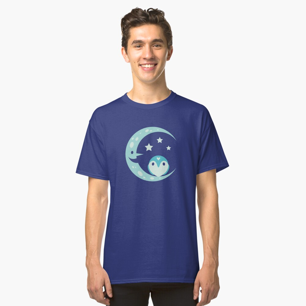 The Owl and the Moon Classic T-Shirt