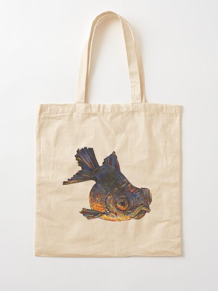 Alternate view of Black telescope goldfish painting - 2016 Tote Bag