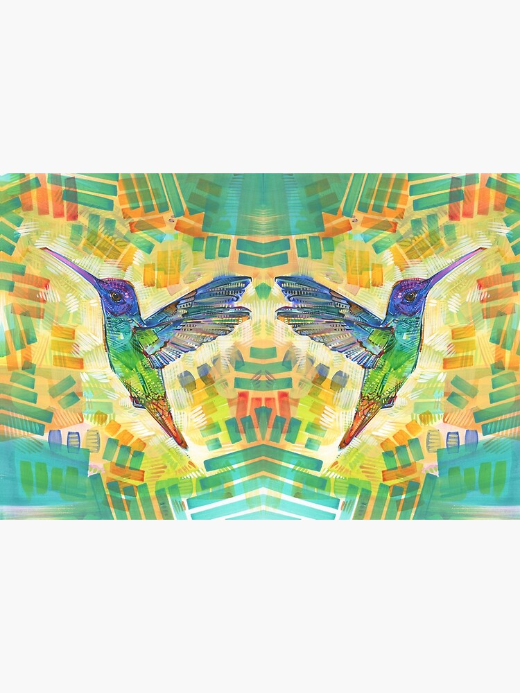 Golden-tailed sapphire hummingbird painting - 2016 by gwennpaints