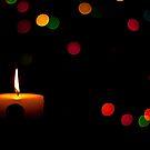 Christmas candle. by Edward Mahala