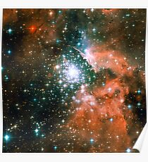 Kid Cudi Galaxy | Star Forming Region [NGC-3603] Poster