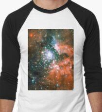 Kid Cudi Galaxy | Star Forming Region [NGC-3603] Men's Baseball ¾ T-Shirt