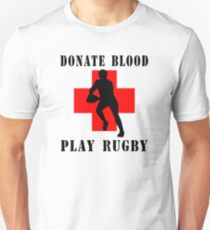 "Rugby ""Donate Blood Play Rugby"" T-Shirt"