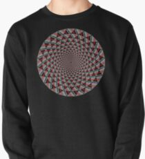 Stoic Flower - Red Grey Pullover Sweatshirt