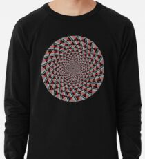 Stoic Flower - Red Grey Lightweight Sweatshirt