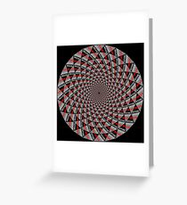 Stoic Flower - Red Grey Greeting Card