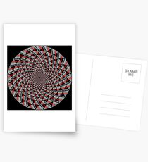 Stoic Flower - Red Grey Postcards