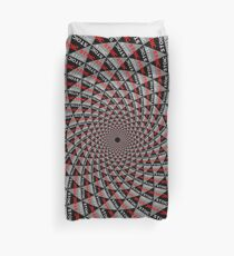 Stoic Flower - Red Grey Duvet Cover