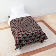Stoic Flower - Red Grey Comforter