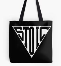Stoic Triangle - Black Letters Tote Bag