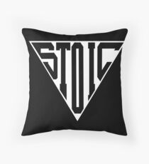 Stoic Triangle - Black Letters Throw Pillow