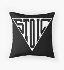 Stoic Triangle - Black Letters Floor Pillow