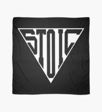 Stoic Triangle - Black Letters Scarf