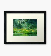 Light n Greens Framed Print