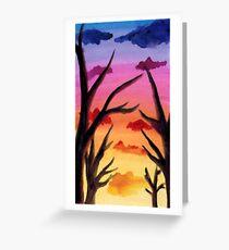 Inked Sunset Greeting Card