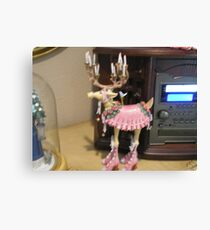 Dancing reindeer Canvas Print