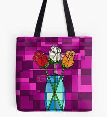 Geometric Bouquet Tote Bag