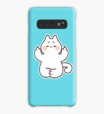 "Meditating ""F**K YOU"" Cat Case/Skin for Samsung Galaxy"