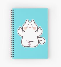 "Meditating ""F**K YOU"" Cat Spiral Notebook"