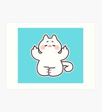 "Meditating ""F**K YOU"" Cat Art Print"