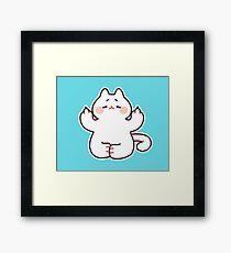 """Meditating """"F**K YOU"""" Cat Framed Print"""
