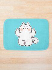 """Meditating """"F**K YOU"""" Cat Bath Mat"""