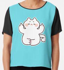 """Meditating """"F**K YOU"""" Cat Chiffon Top"""