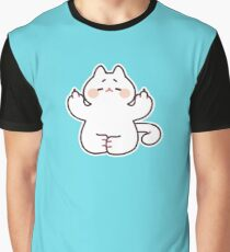 "Meditating ""F**K YOU"" Cat Graphic T-Shirt"