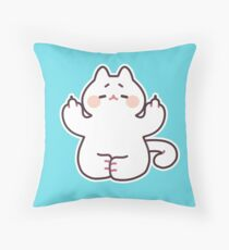 "Meditating ""F**K YOU"" Cat Throw Pillow"