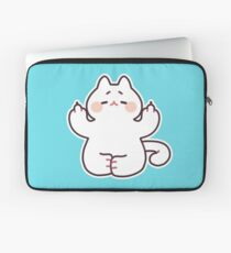 "Meditating ""F**K YOU"" Cat Laptop Sleeve"