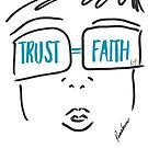 TRUST FAITH (Aqua) by Roxana Frontini