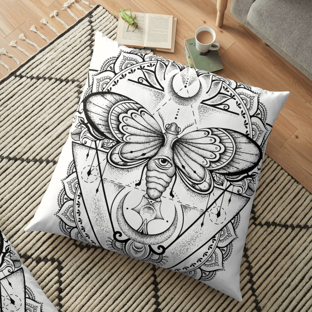 Fly With Me ! Floor Pillow
