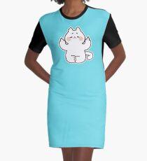 "Meditating ""F**K YOU"" Cat Graphic T-Shirt Dress"