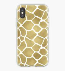Gold Giraffe Print iPhone Case