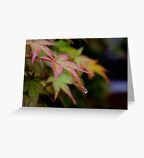 One drop left Greeting Card