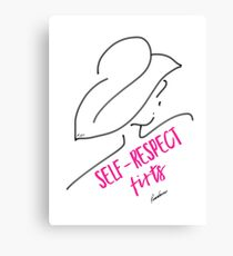 SELF-RESPECT FIRST (Pink) Canvas Print