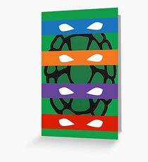 Teenage Mutant Ninja Turtles Masks Greeting Card