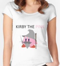 Kirby the Pink Women's Fitted Scoop T-Shirt