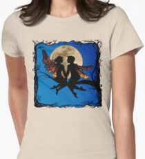 Fairy Couple Sillouette Womens Fitted T-Shirt
