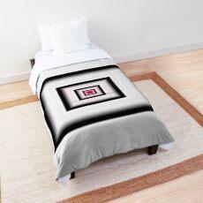 White Smoke Spiral Comforter