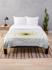 Yellowish Spiral Throw Blanket