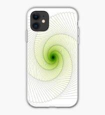 Greenish Spiral iPhone Case