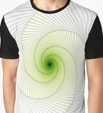 Greenish Spiral Graphic T-Shirt