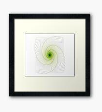 Greenish Spiral Framed Print
