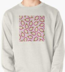 Dragon fruit on pink background Pullover Sweatshirt