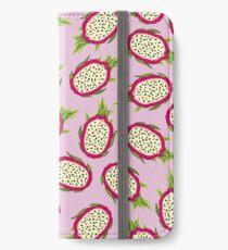 Dragon fruit on pink background iPhone Wallet/Case/Skin