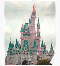 Pink & Teal Castle Poster